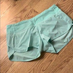 Sea foam green speed shorts